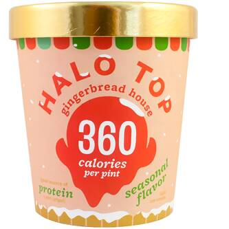 Order Halo Top Ice Cream Gingerbread House Fast Delivery Halo Top Ice Cream Halo Top Flavors Halo Top
