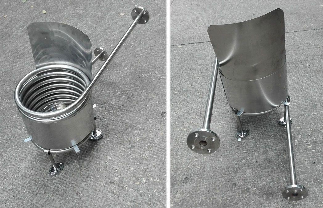 Stainless steel coil heat exchanger for dutch tub wood - How to make your own swimming pool heater ...