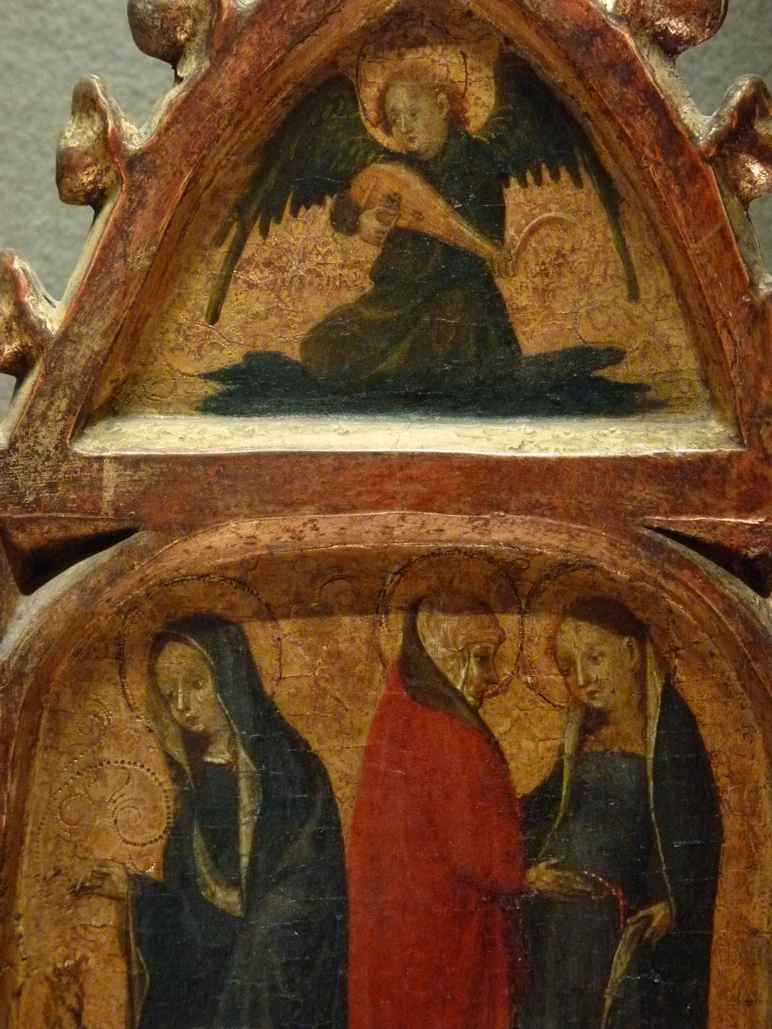 ALLEMAGNE,15e - Scènes de la Vie de la Vierge, l'Enfance du Christ - Détail 34 - Virgin of Annunciation, Visit to Elisabeth and musician Angel -