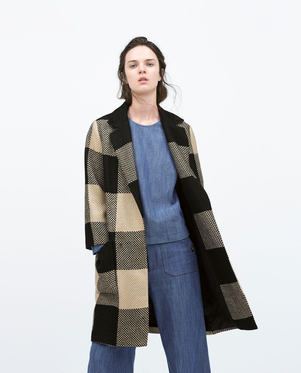 Damen ReversI Karomantel Fashion Mit ❤️ Zara BrdoWEQCex