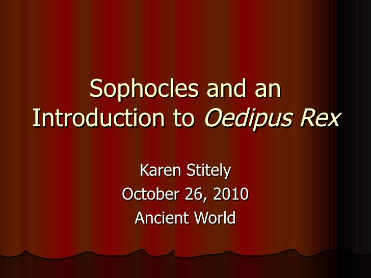 Sophocles And An Introduction To Oedipus Rex Teaching Ideas