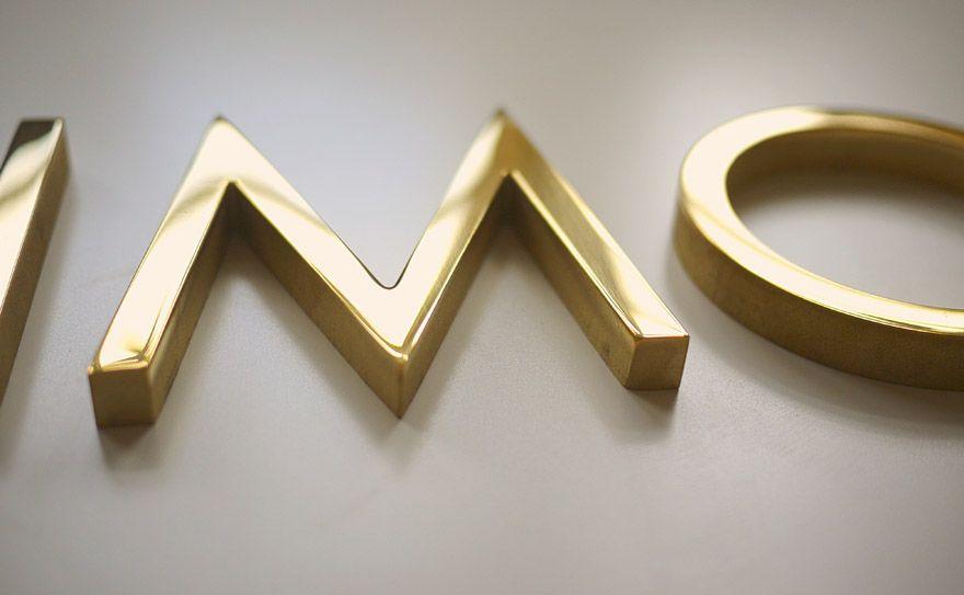 Decorative Brass Letters By Matthaeus Krenn Hotel Signage Wayfinding Signage Design Signage Design