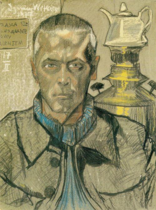 Self-Portrait with a Samovar, Stanisław Ignacy Witkiewicz