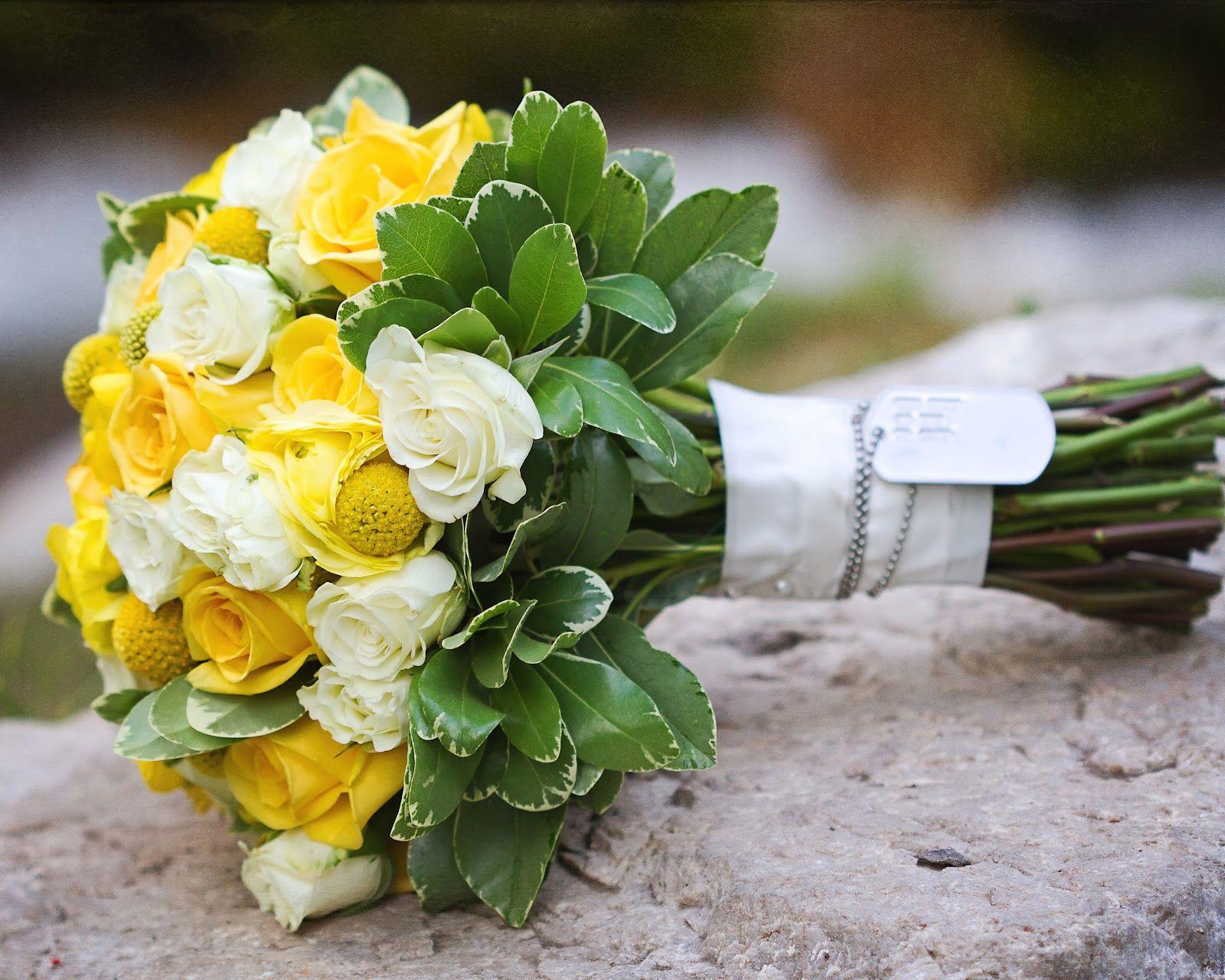yellow wedding bouquet | floral design by erin