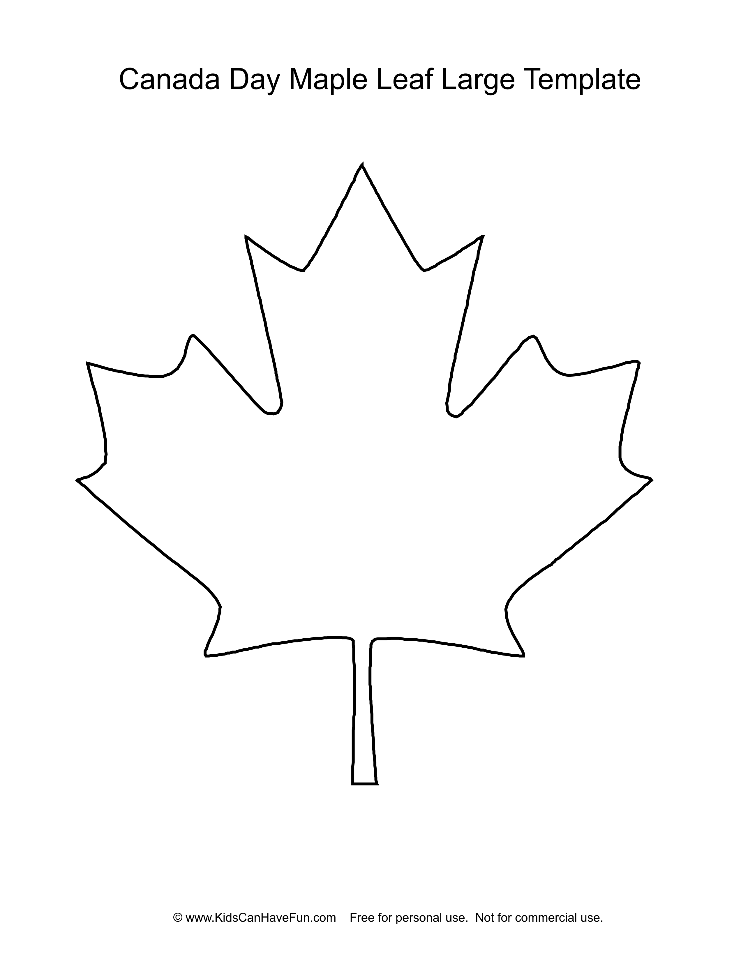 Canada Day Maple Leaf Template Large Http Www Kidscanhavefun Com Canadaday Activities Htm Canadaday Mapleleaf Maple Leaf Template Leaf Template Canada Day