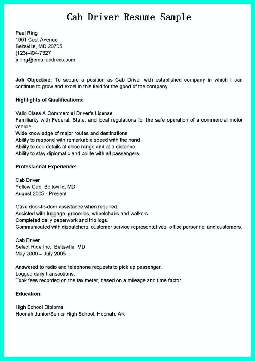 Truck Driver Resume Awesome Simple But Serious Mistake In Making Cdl Driver Resume