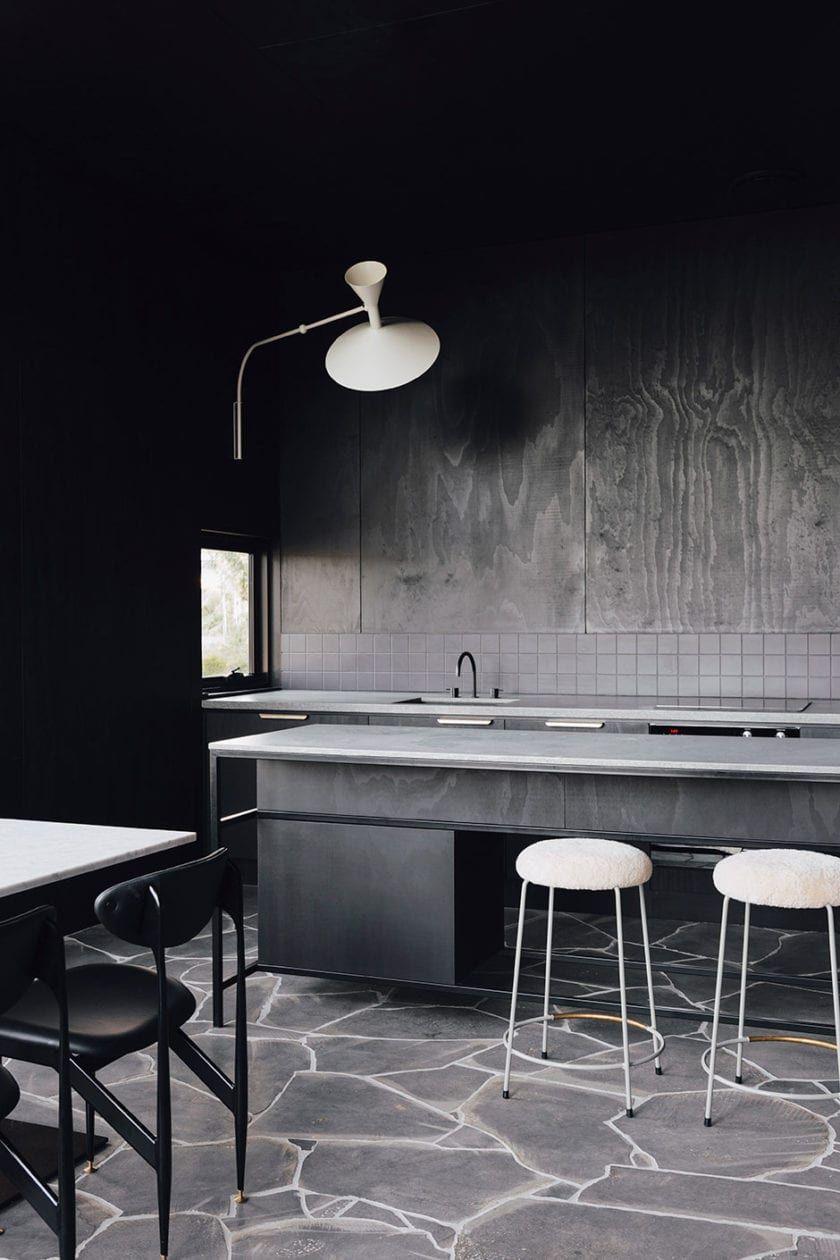 Slow Beam Architectural Getaway In Hobart Beams House Styles Plywood Walls