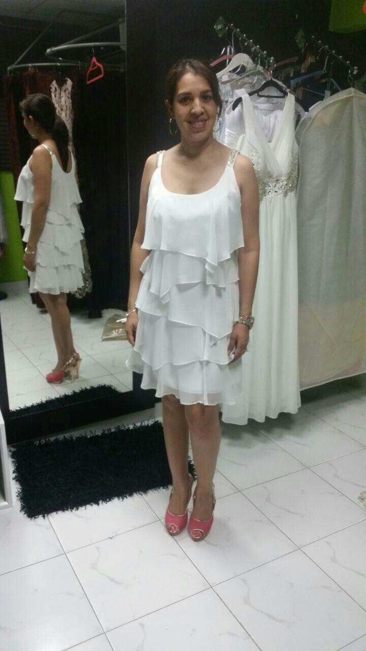 Asombroso Vestido Blanco Para La Ducha De La Boda Modelo - Ideas de ...