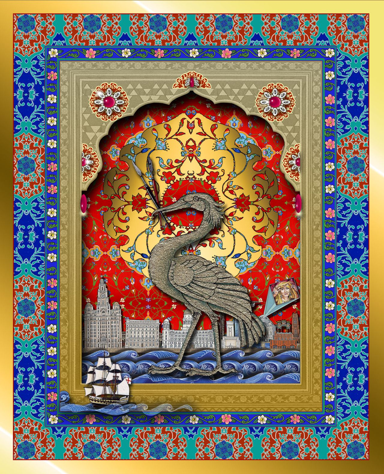 Indian liverbird the singh twins mughal miniature
