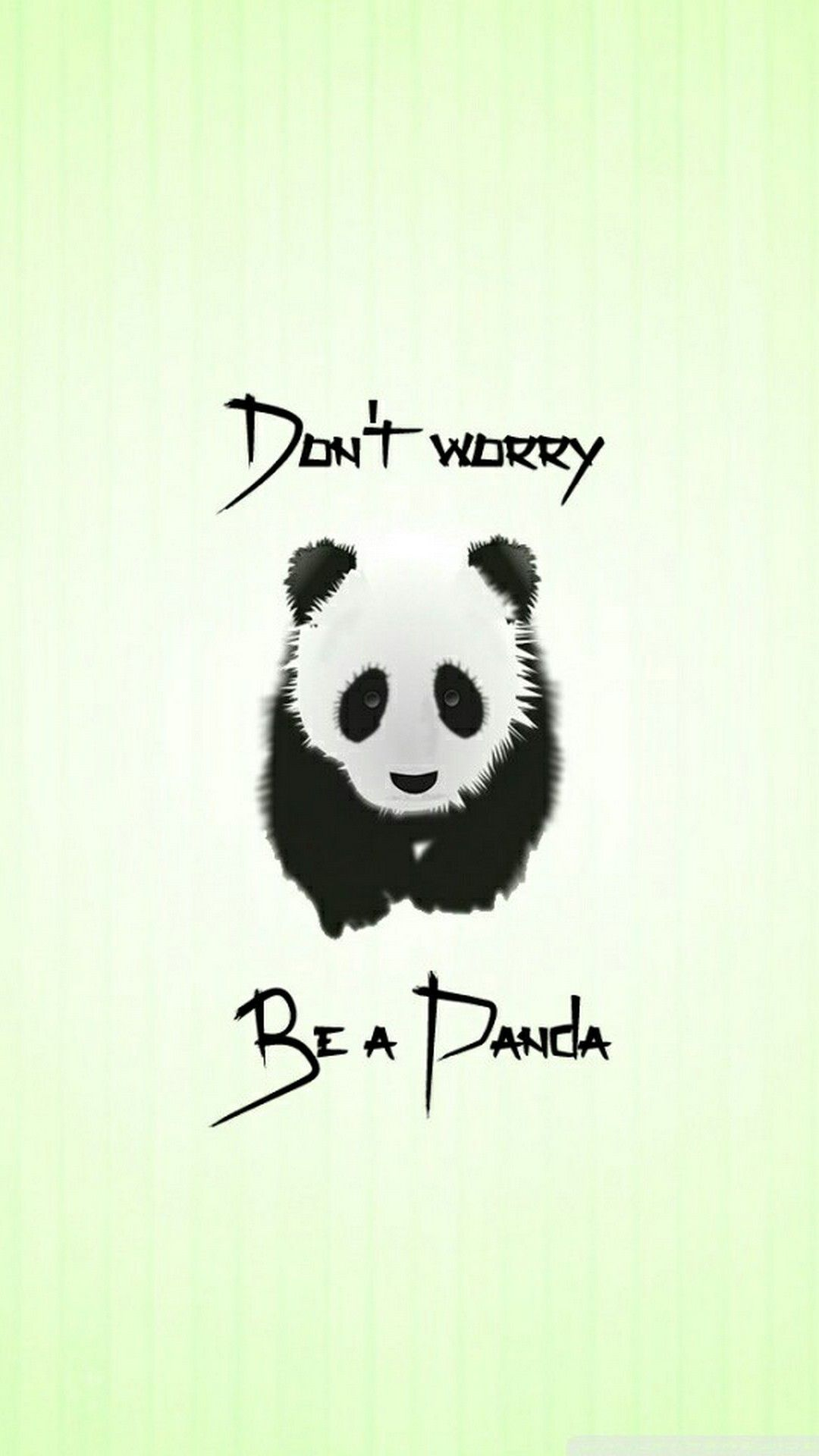 cute dont worry be a panda iphone wallpaper - 2018 iphone wallpapers