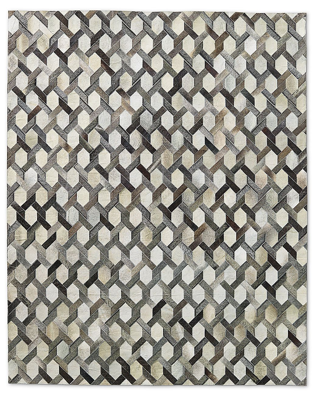 Link Cowhide Rug Charcoal Restoration Hardware