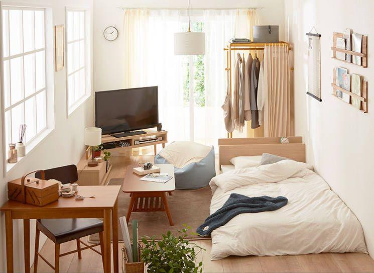 6畳一間を専門にインテリアを展開している ニッセン では お手頃で組み合わせしやすい家具やベッド 収納棚や雑貨などをたくさん揃えています 今回は 心落ち着く ナチュラル な部屋を作るコーディネートを インテリアの実例写真や配置図を添えてご紹介します