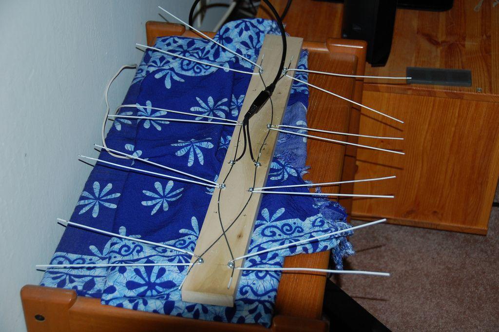 DIY Coat Hanger HDTV Antenna Diy tv antenna, Coat hanger