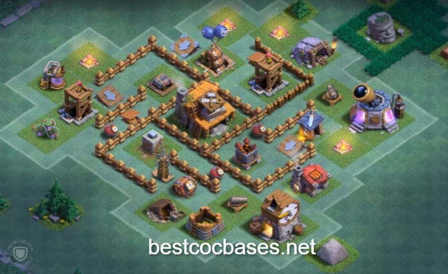 Level 4 Builder Base Layout Town Hall 4 Builder