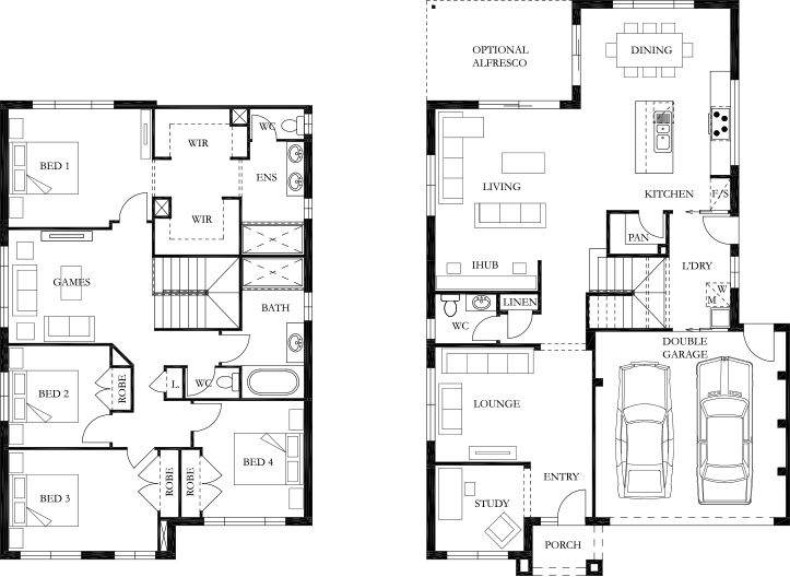 Bristol 28 Floor Plan Eden Brae Homes Huisplattegronden Plattegrond Huis