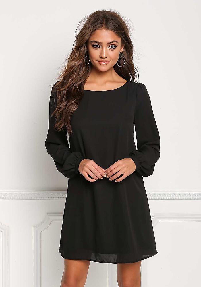 32+ Long sleeved black shift dress information