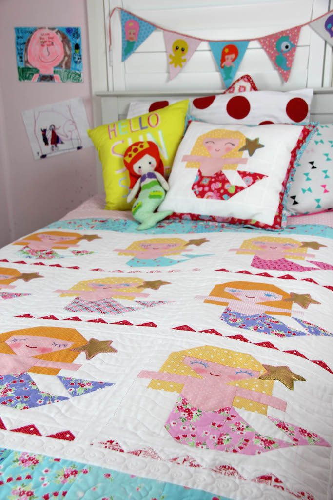 De Aloha Quilt.Aloha Mermaid Quilt Pattern Red Brolly Quilting Pinterest