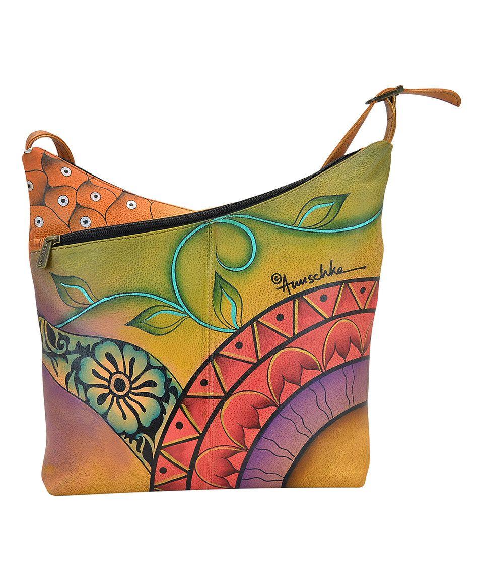 Anuschka Handbags Patchwork Garden Hand-Painted Leather V-Top Hobo Bag by Anuschka  Handbags  zulilyfinds 2e325b14ab