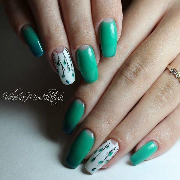 50 coffin nail art designs white coffin nails spring nail art 50 coffin nail art designs prinsesfo Gallery