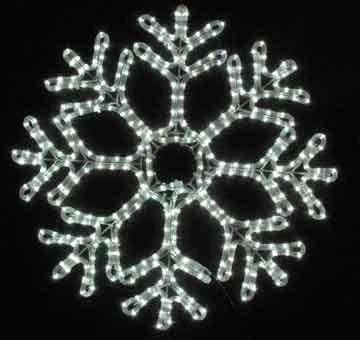 Novelty Lights Inc Led Sf 242 Christmas Led Rope Light Snowflake Pure White 24 X 24 Heavy Duty Metal Frame Home Living Home Improvement Ideas And I Led Rope Lights