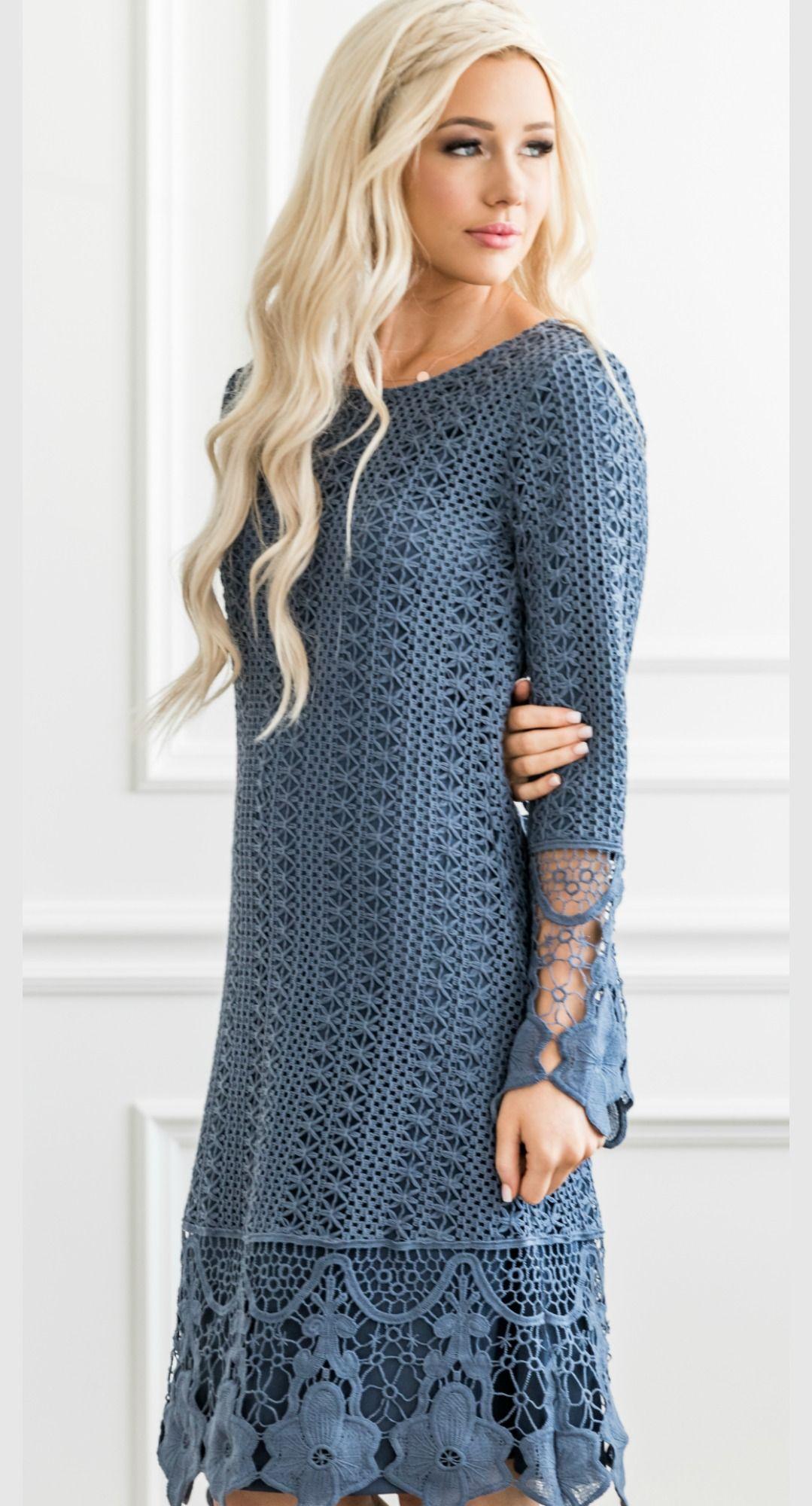 Lydia Dusty Blue Boho Dress Blue Boho Dress Modest Dresses Blue Long Sleeve Dress [ 2000 x 1079 Pixel ]