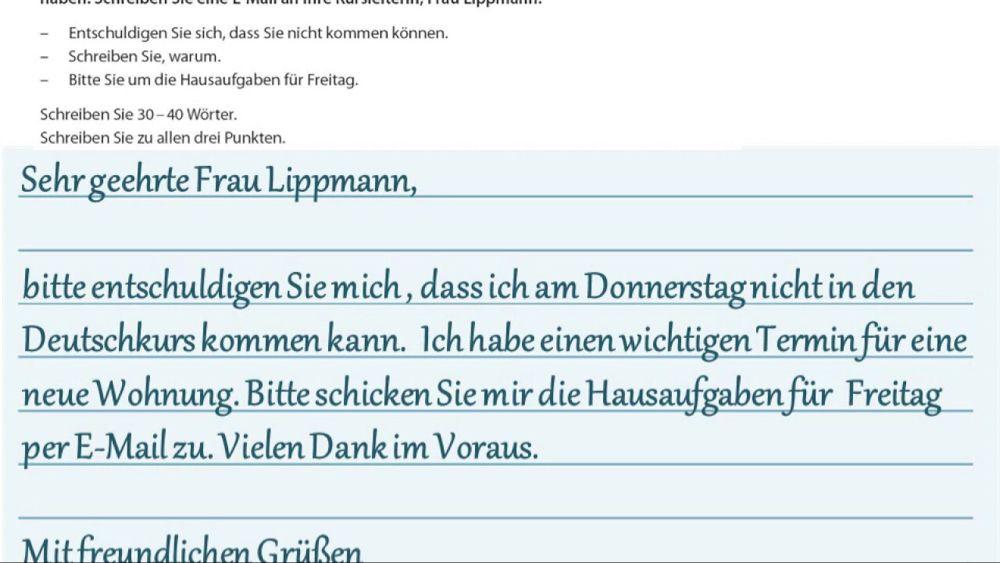 Goethe Zertifikat A2 Start Deutsch 2 Beispiele Schreiben Teil 1 Und 2 03 Youtube Learn German Goethe Deutsch