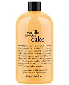Philosophy Vanilla Birthday Cake Ultra Rich 3 In 1 Shampoo Body Wash
