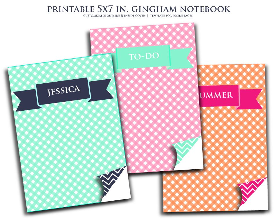 photograph about Printable Notebooks known as Printable + Customizable 5x7 Laptop ideal Laptop