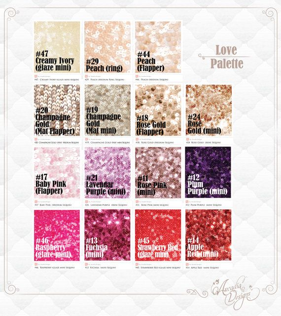 Romantic Colors Of Sequin Linen MADE TO ORDER, Shimmery Peach, Baby Pink,  Hot