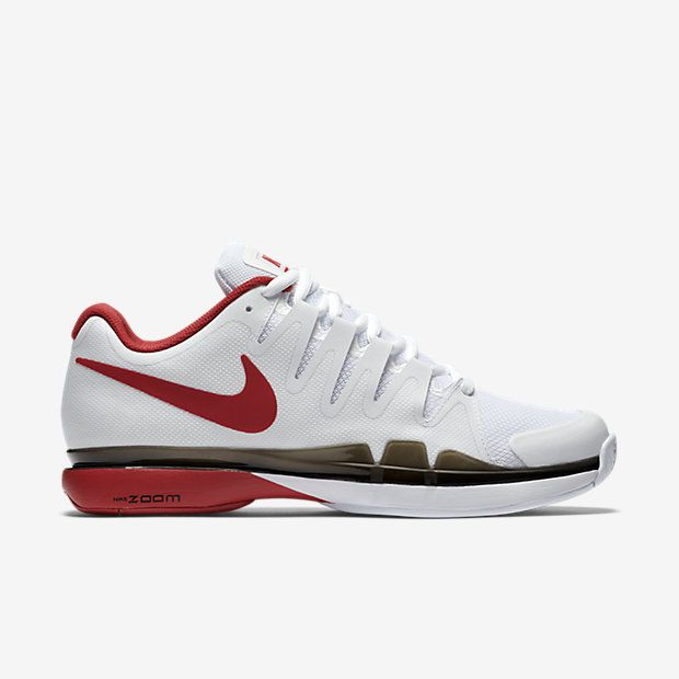 Nike Zoom Vapor 9.5 Tour Mens Tennis Shoes White Red Black FEDERER 631458  160