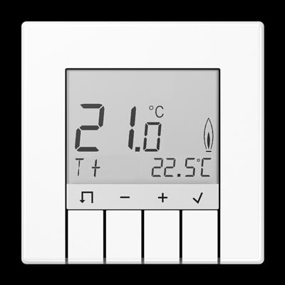 Jung Tr D Ls 231 Ww Raumtemperaturregler Standard Mit Display Schalter Und Steckdosen Elektroinstallation Selber Machen Elektroinstallation