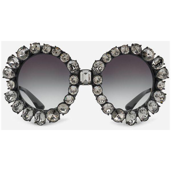 82923275c72df Dolce   Gabbana Round Sunglasses With Swarovski Crystals ( 1