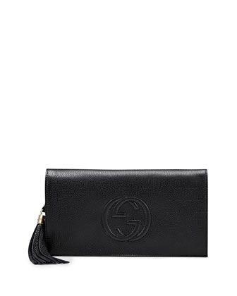 2cf61210a62d Soho+Leather+Clutch+Bag,+Black+by+Gucci+at+Neiman+Marcus. | Items to ...