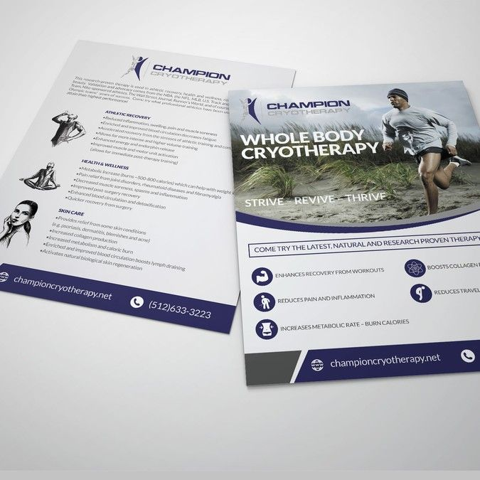 Create An EyeCatching Flyer Marketing Cryotherapy By Dyan Saputra