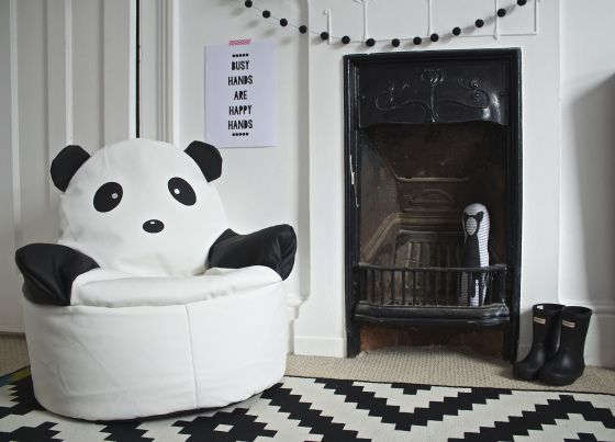 Panda Bean Bag Chair In Os Room Dunelm Mill