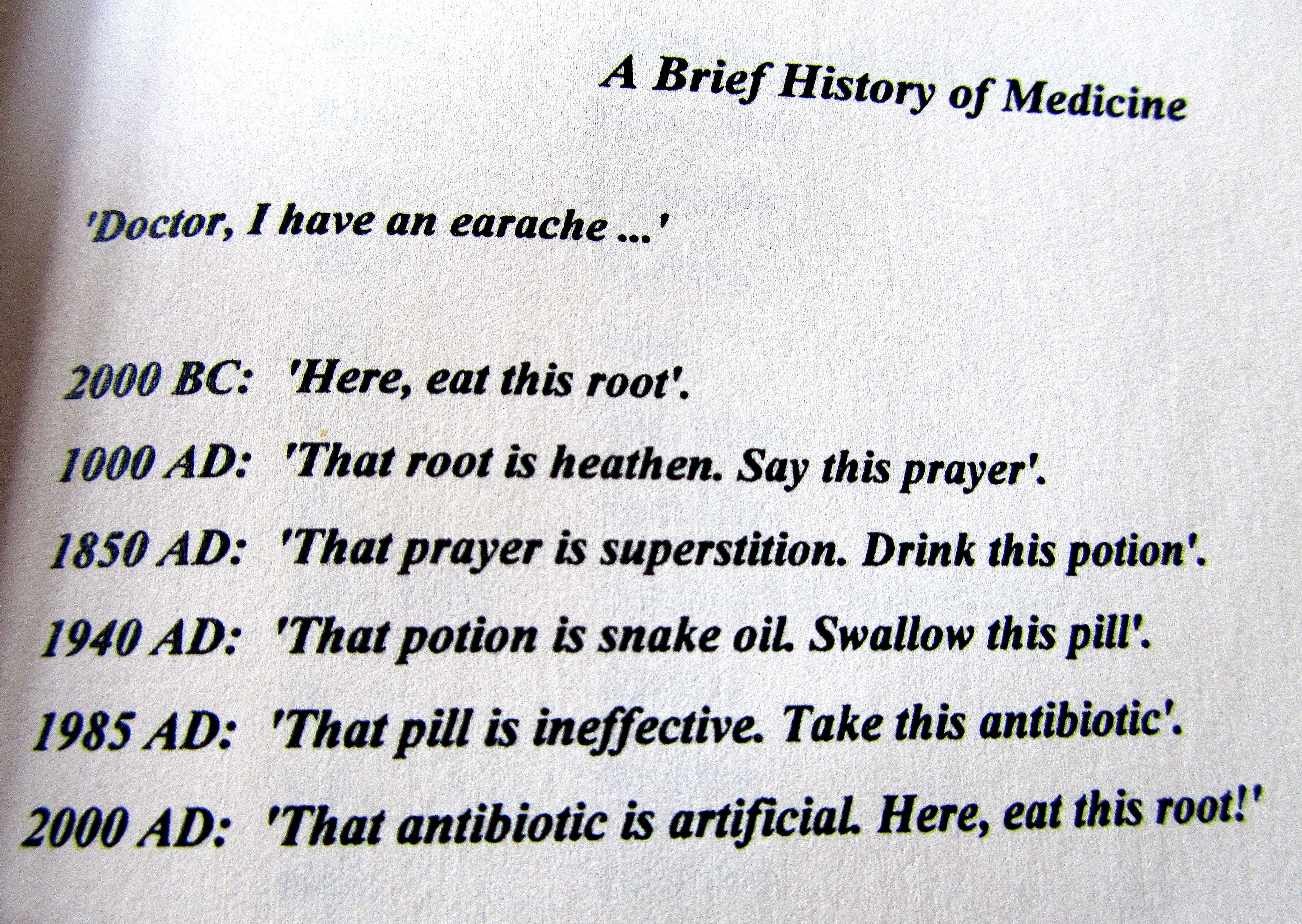 A Brief History of Medicine, sounds right | funny | Funny