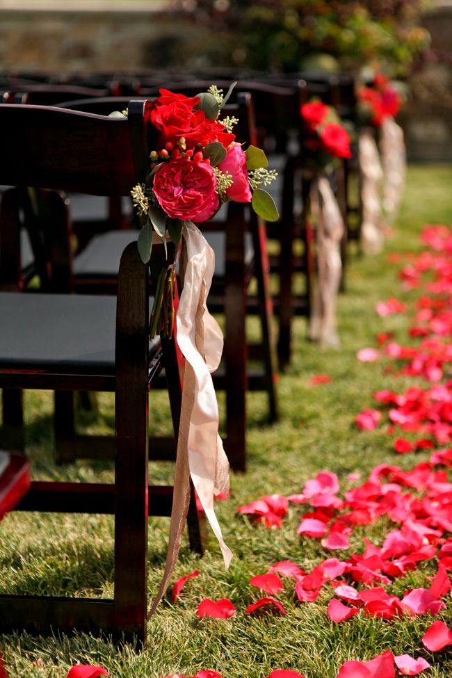 Red Pink And Gold Wedding At St Regis Deer Valley Pink Gold