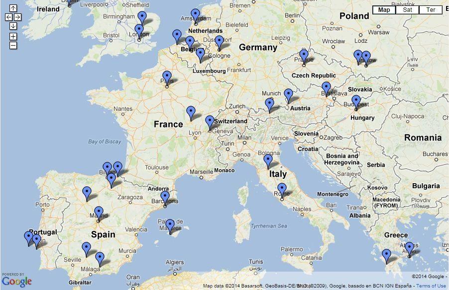 Resultado de imagen para mapa europa capitales y ciudades