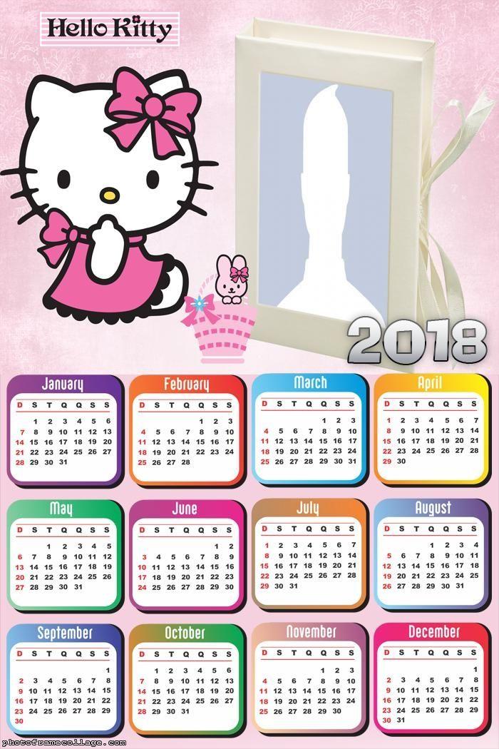 Calendar Hello Kitty Cartoon 2018 | Birds Of Prey | Baby ...