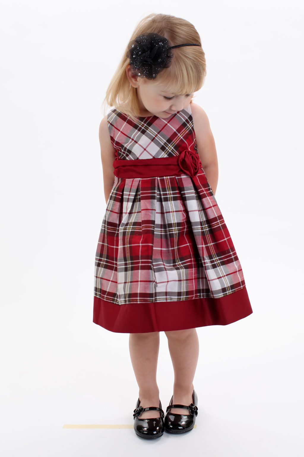 615be720791fd DN_954 - Flower Girl/Holiday Dress Style 954-Red Tartan SALE-  9MTH,12MTH,18MTH,24MTHS AND 36MTHS - Holiday Dresses - Flower Girl Dress For  Less