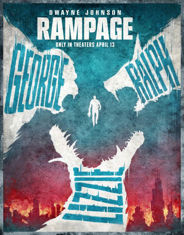 Rampage George Ralph And Lizzie Rampage Talenthouse Godzilla