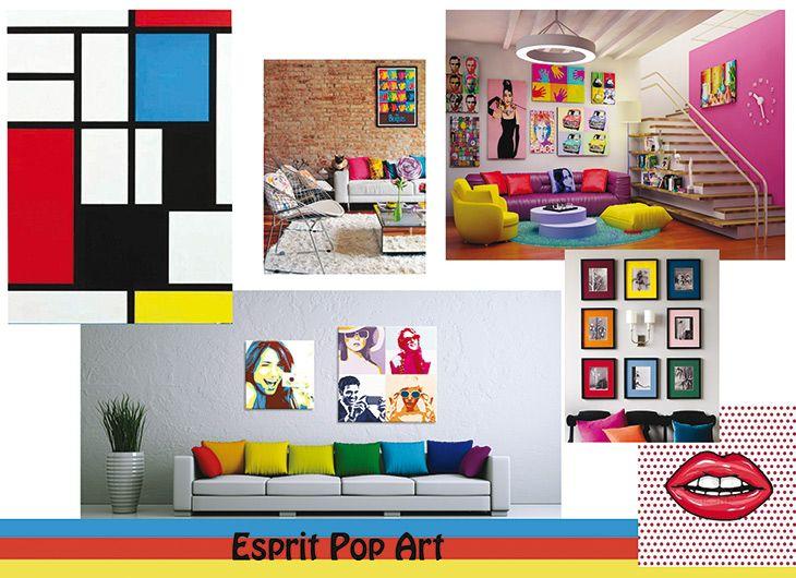 style pop art ozhome esprit d co d coration de r ve pinterest pop art pop et esprit. Black Bedroom Furniture Sets. Home Design Ideas