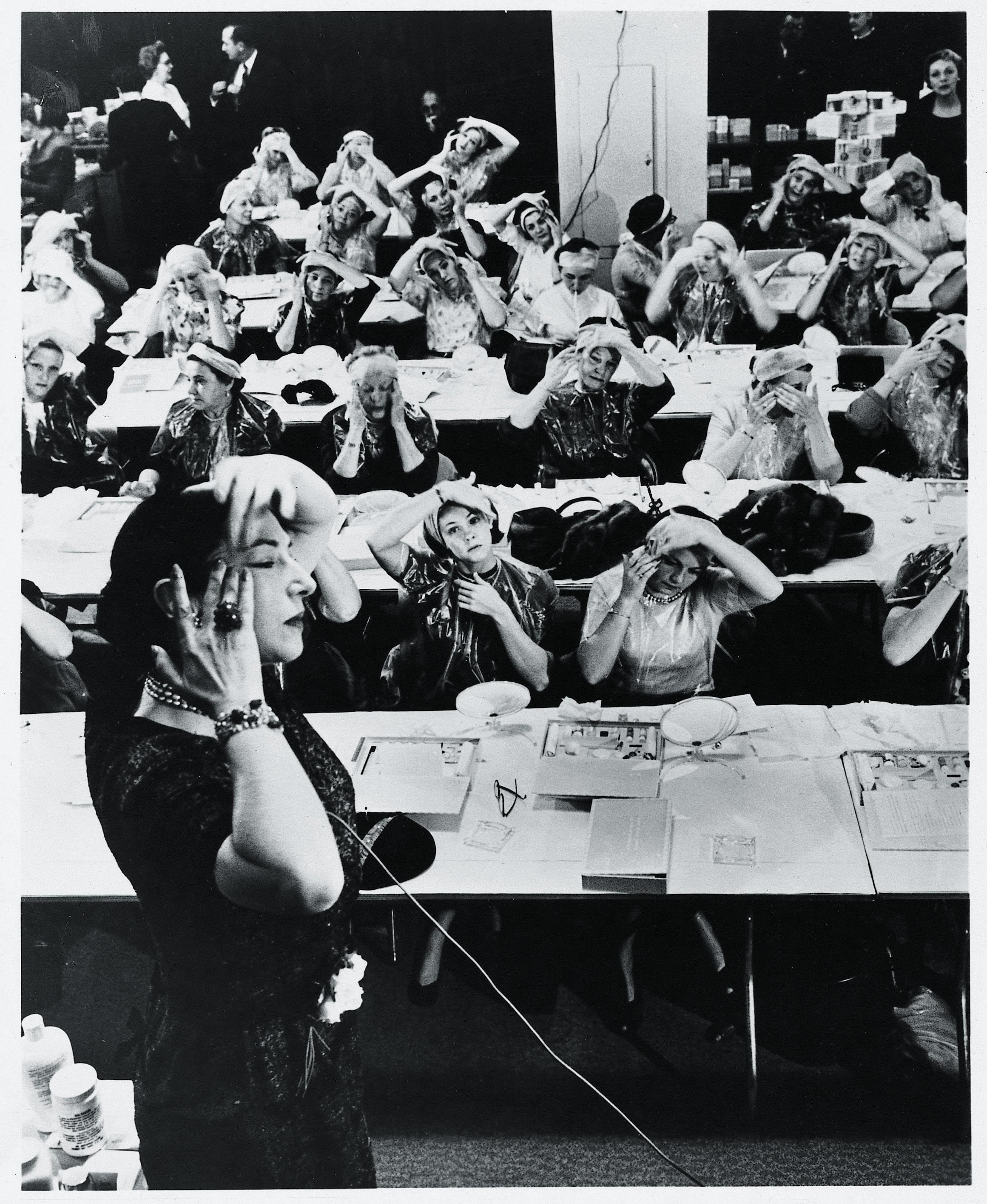 Mala Rubinstein During A Beauty Class Helena Rubinstein