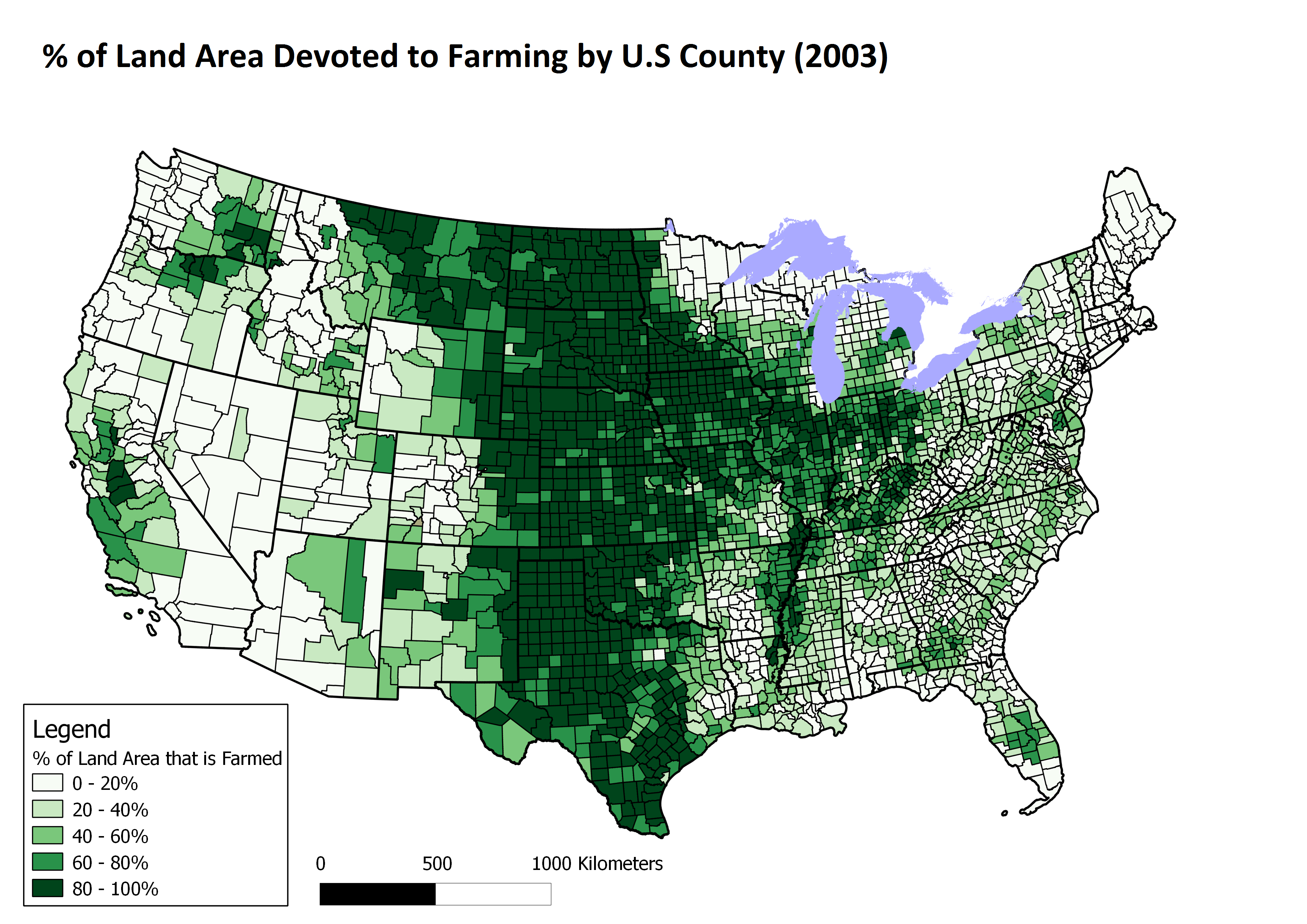 Farming in the USA (2003) Us map, Antique maps, Map