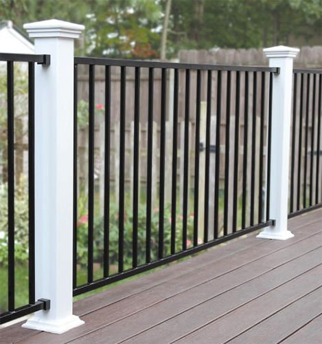 Designer S Image 72 W X 34 H Black Level Rail Panel At Menards Iron Railings Outdoor Railings Outdoor Deck Railing Design