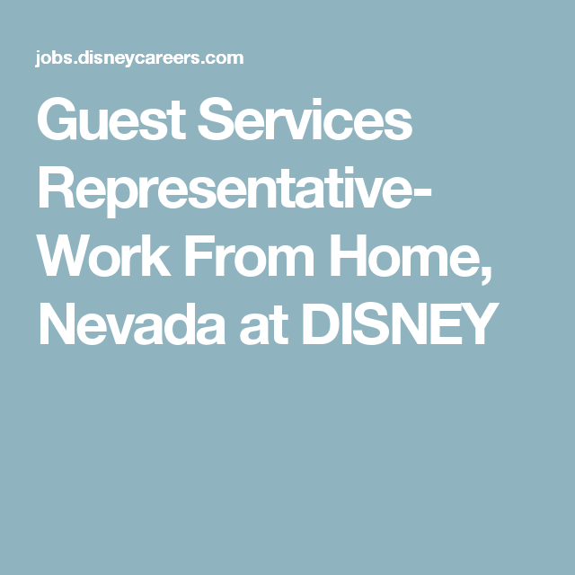 Guest Services Representative- Work From Home, Nevada At
