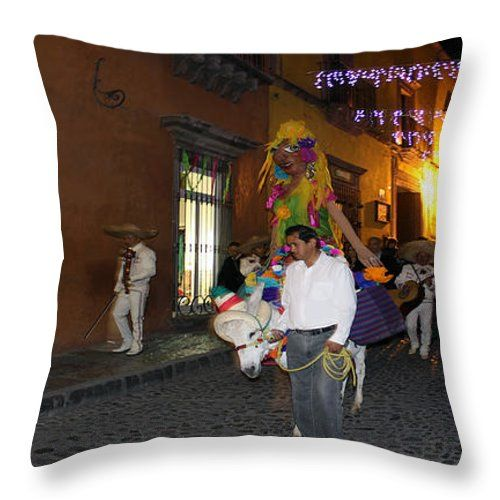 Celebration San Miguel Throw Pillow by Cathy Anderson