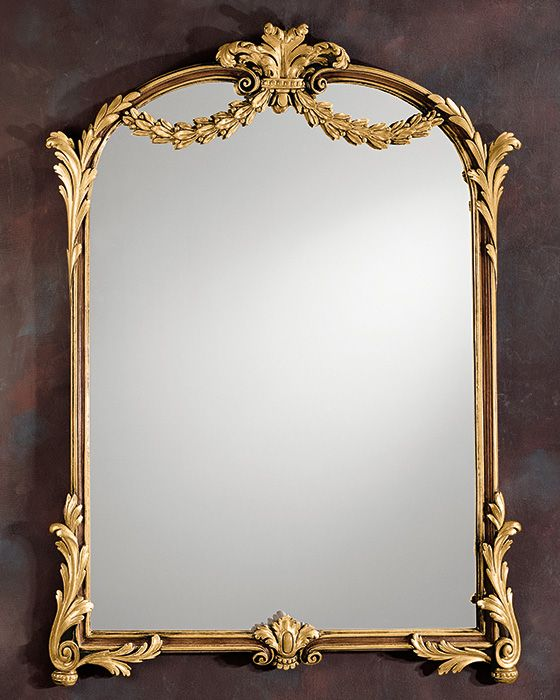 6118446e8296 mirror - Louis XV style - Louis XV style mirror - Louis XV style vertical  framed wall mirror in medium brown finish and antiqued gold leaf t.