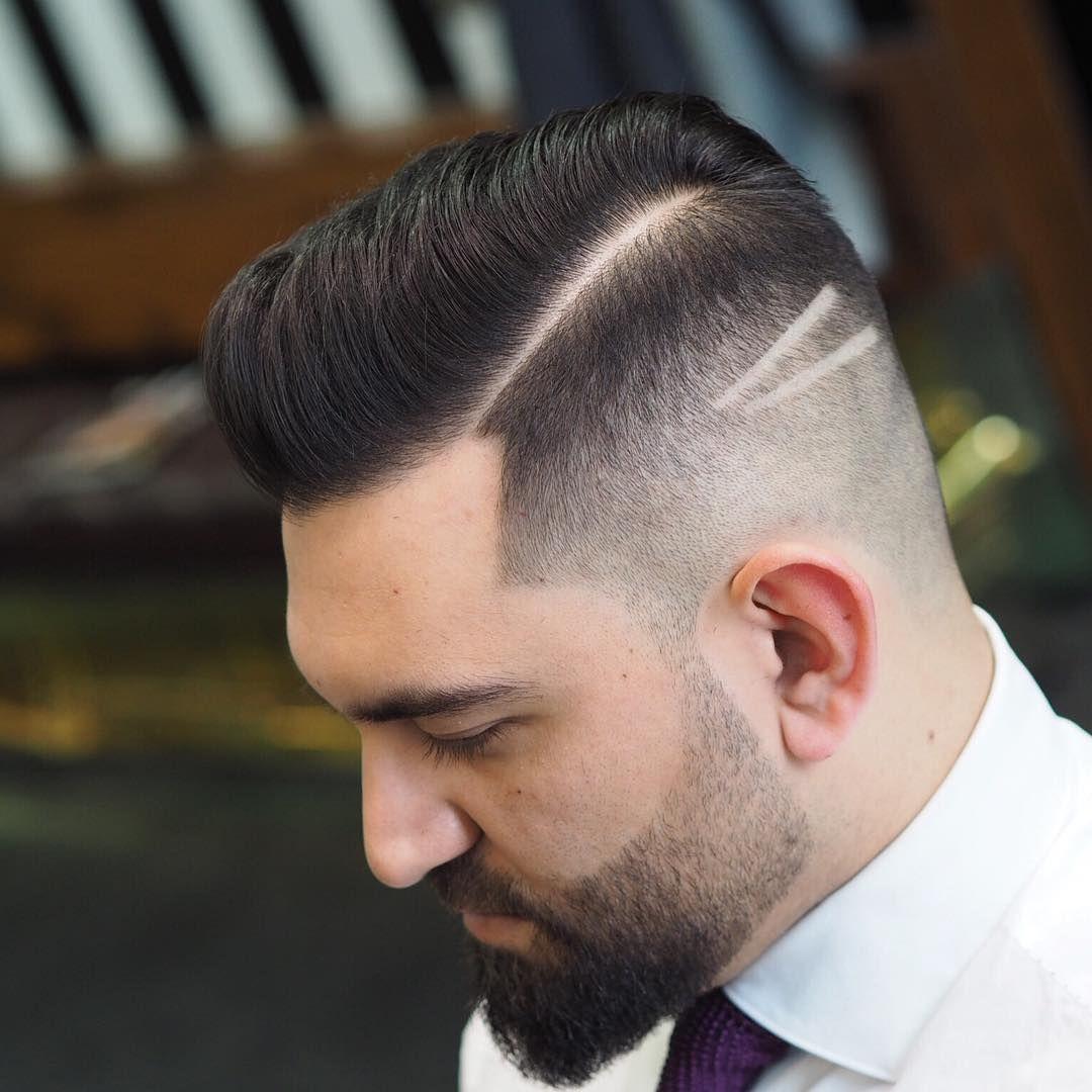 simple design receding hairline