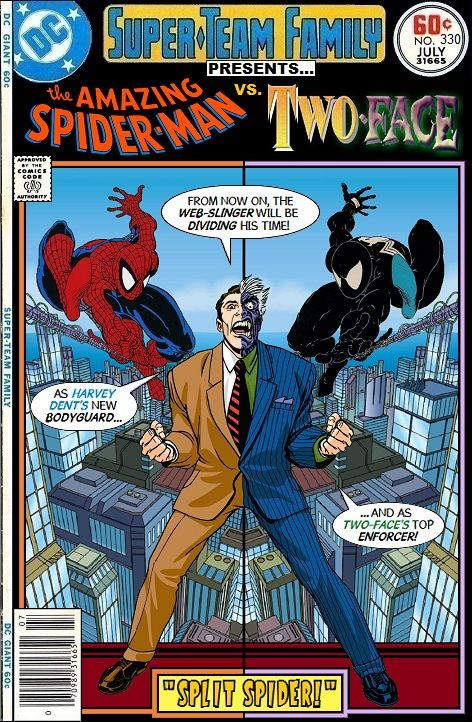 super team family the lost issues spider man vs two face comic